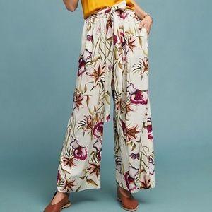 Anthropologie Odells Floral Riley wide leg Pant XS